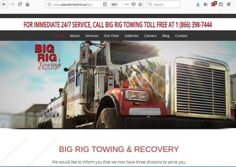 Big Rig Towing New Website