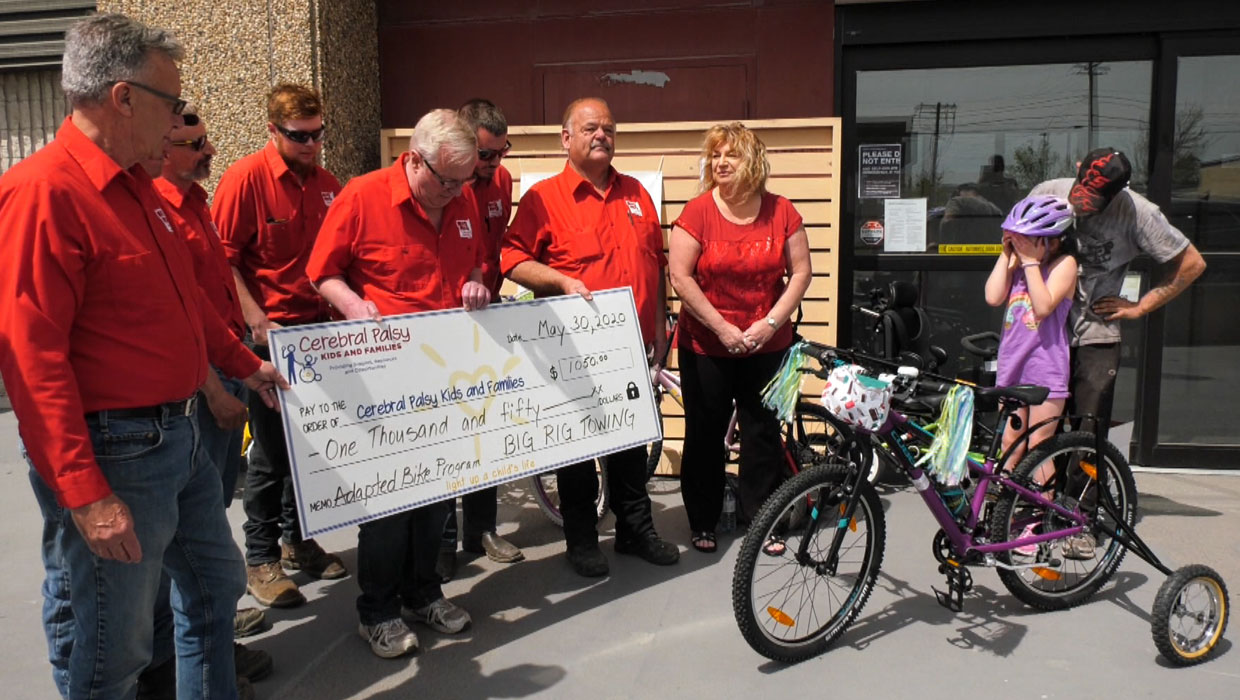 Big Rig Towing Raises Money for Return of Stolen Bike